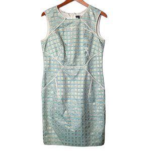 Per Se Dress Sheath Baby Blue Silver Square 6